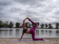 actually doing yoga