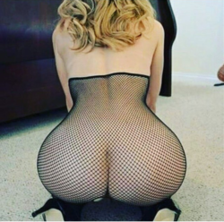 blonde in sexy mesh outfit
