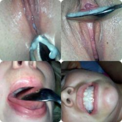 chewing on a creampie
