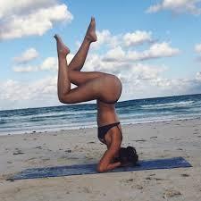 lest go yoga in the beach