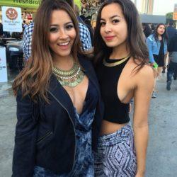 sisters cleavage and nipple poking