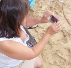 taking pictures at the beach