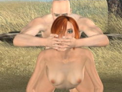 Sexually excited redheaded 3D super model Tammy receives screwed rear end outdoors