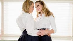 Twin lezzie stepsisters Mia Malkova and Kenna James