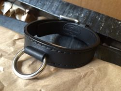 A friend requested a black chromexcel collar with stainless steel hardware. The classics are always in style.