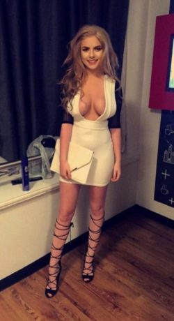 A small hint of cleavage