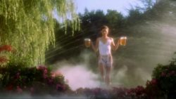 Julie Bowen - Sexy White Lingerie and Beer Plot - Happy Gilmore [1MIC]