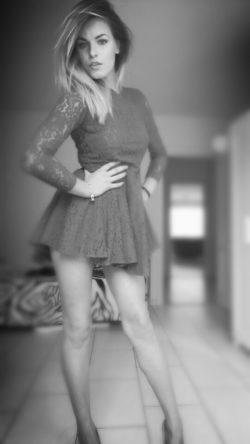 B&W Lace Dress