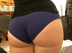 Big blue butt