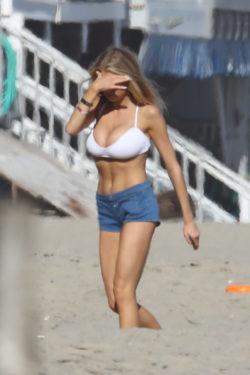 Charlotte McKinney at the beach