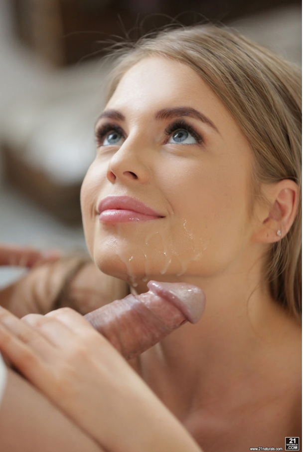 Romantic facial huge cum on tits 4