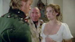 Had to freeze frame Elizabeth Hurley's plot in Sharpe