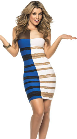 Even she can't believe this dress actually exists.