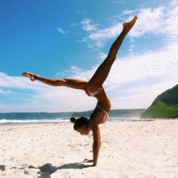 Flexible on the beach