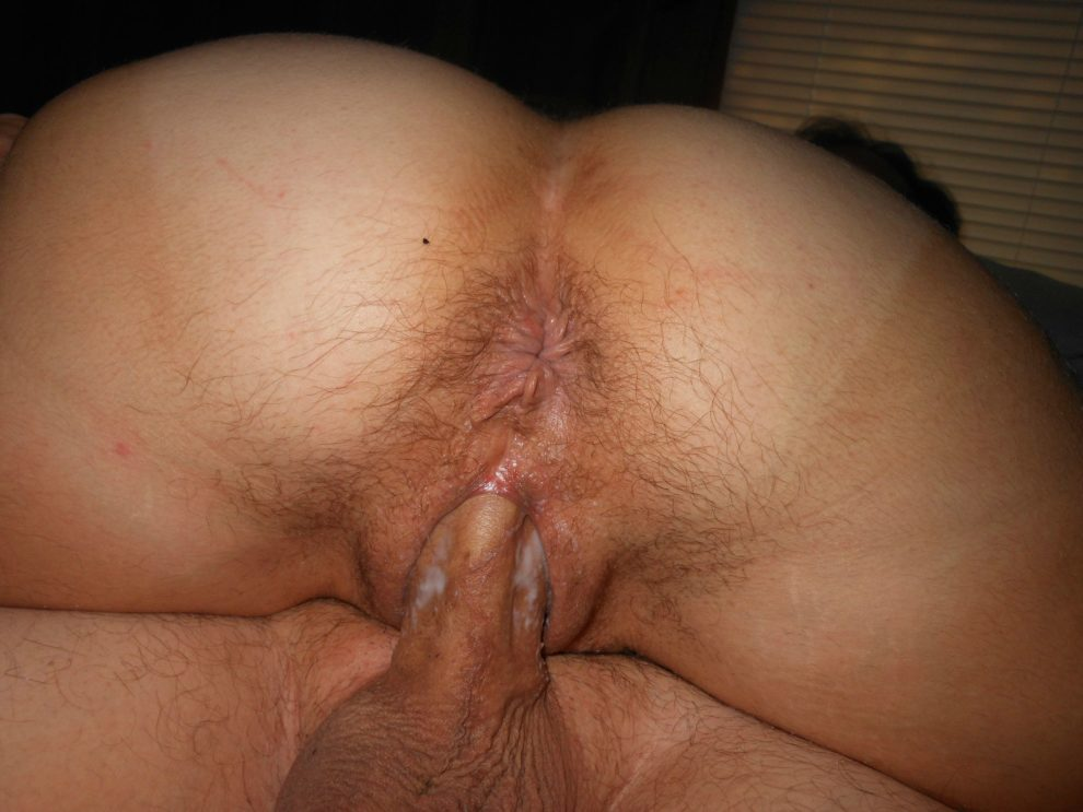 Her pussy is creaming on my cock. Look at her pussy lips stretched open.
