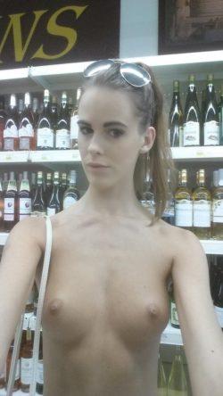 In the liquor store
