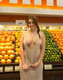 In the melon aisle