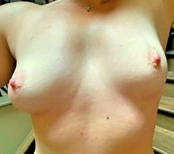 Look what your messages do to my wife's nipples.