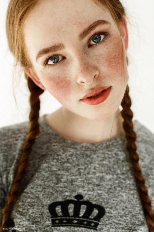 Pigtails & freckles