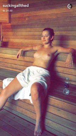 Sauna time with Dani Daniels