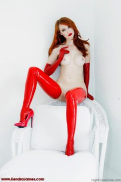 Shiny red stockings