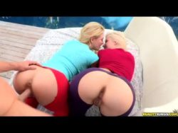 Anikka Albrite and Cherie Deville doggystyle