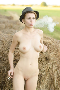 Smoking naked