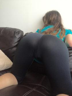 Sticking out her ass