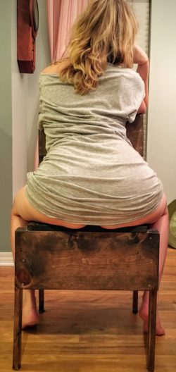 Straddling chair.