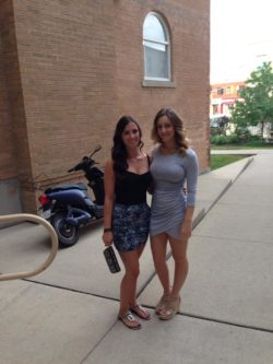 Two girls and a scooter