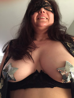 Wife with mask & pasties