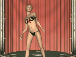 Superb looking 3D model in dark underware Cindy dancing flirtatiously for u