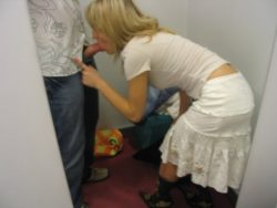 A Quick BJ In The Changing Room