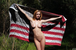 Ashlee Hills and the Flag