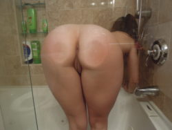 Ass against glass