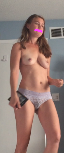 Can you see my MILF bush through my panties? 38 years old.