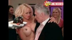 Pamela Anderson surprising Hef for his birthday (Girls Next Door)