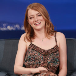 Emma Stone on Conan's talk show (x-post /r/TalkShowGirls)