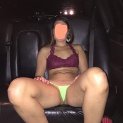 Fun in the back of a limo