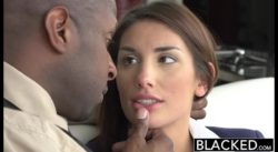 August Ames - Blacked - Her first Blacked scene