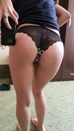Lacy panties in the back are awesome !:D