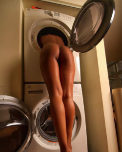 Legs in the laundry
