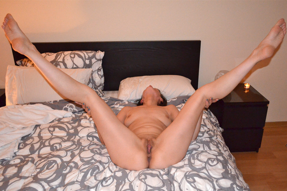 Legs spread wide for you