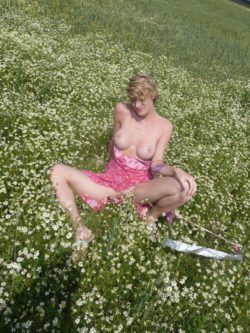 MILF in a meadow