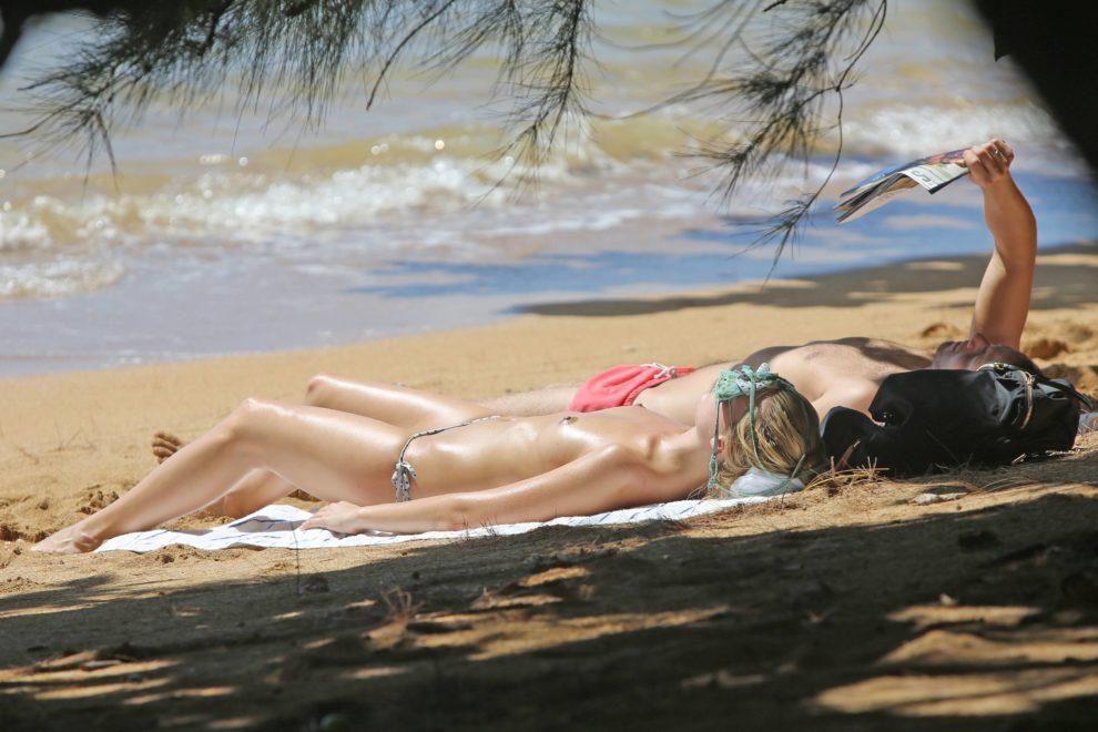 Margo Robbie on the beach