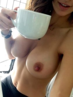 Morning coffee is better topless