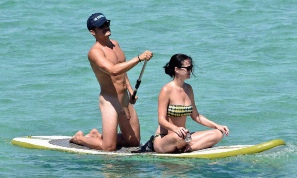 Naked Orlando Bloom and NOT naked Katy Perry