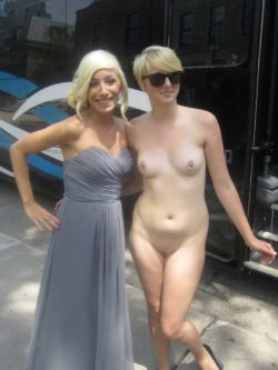 Naked with a friend
