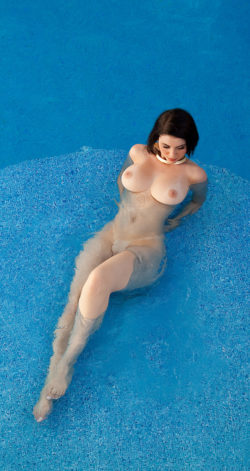 Skinny dipping in the pool