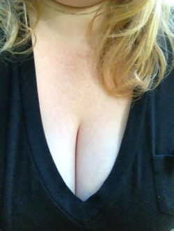 Some cleavage and freckles for you